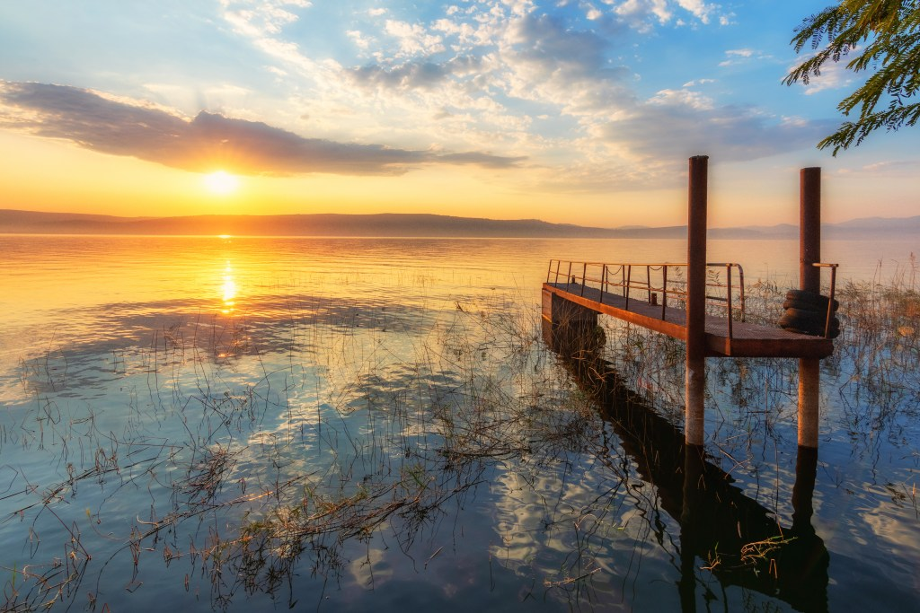 Sunset at the Sea of Galilee