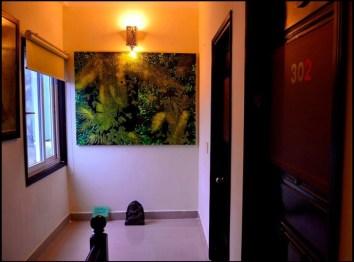 Nino Hue hôtel, corridor à l'étage des chambres à Nino hôtel