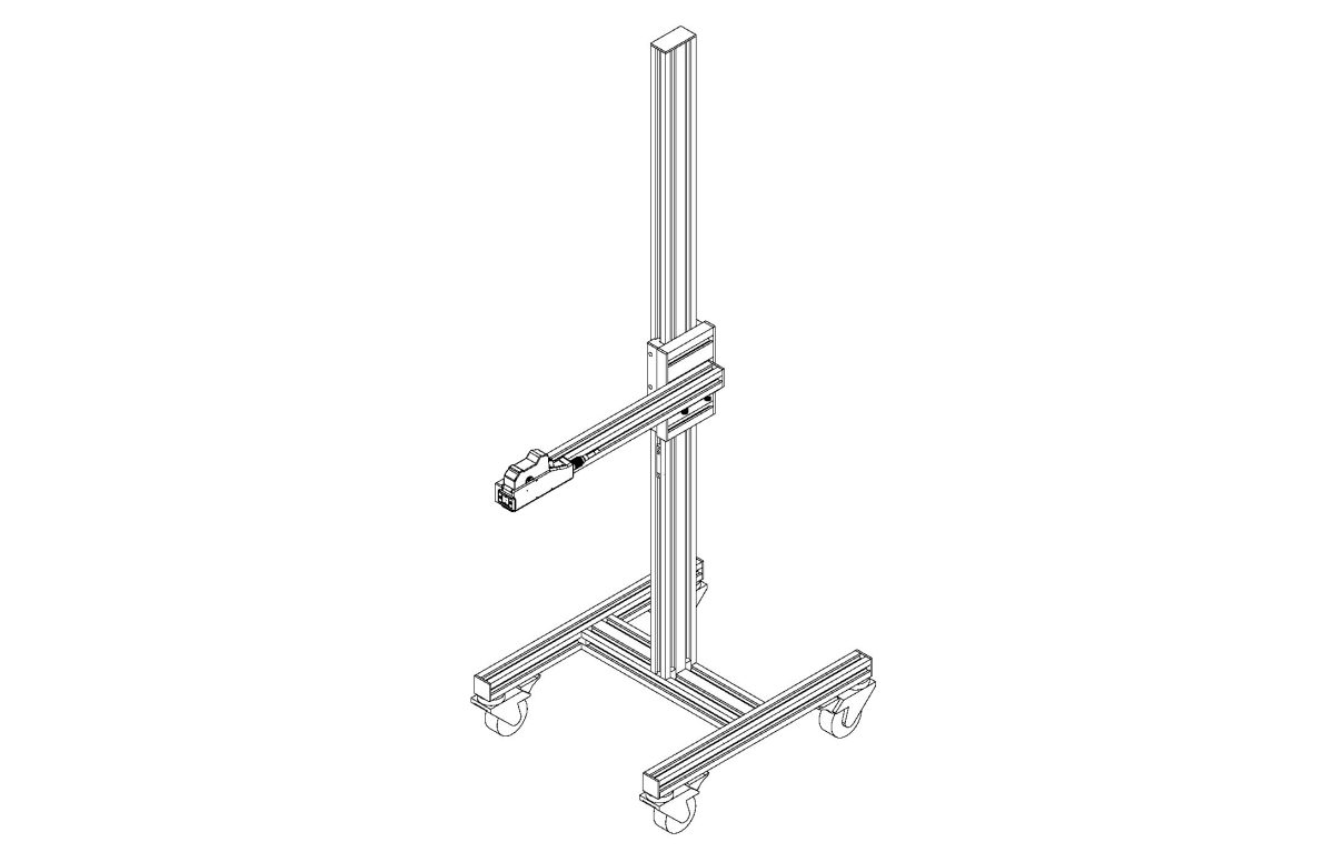Stand with Adjustable Arm and Casters pdf - Stands and Conveyors