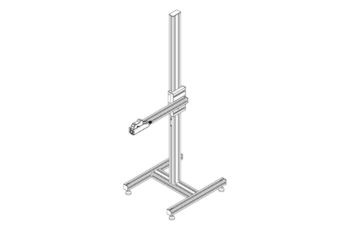 Stand with Adjustable Arm and Feet pdf - Stands and Conveyors