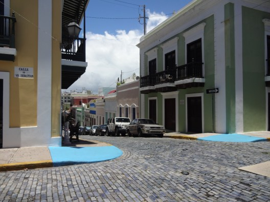 Calle San Sebastian looking down Calle Cruz
