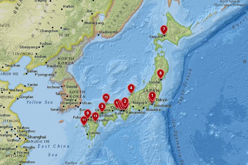 Ancient Japan Map Cities