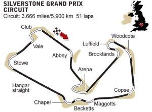Formula 1 British Grand Prix Silverstone map