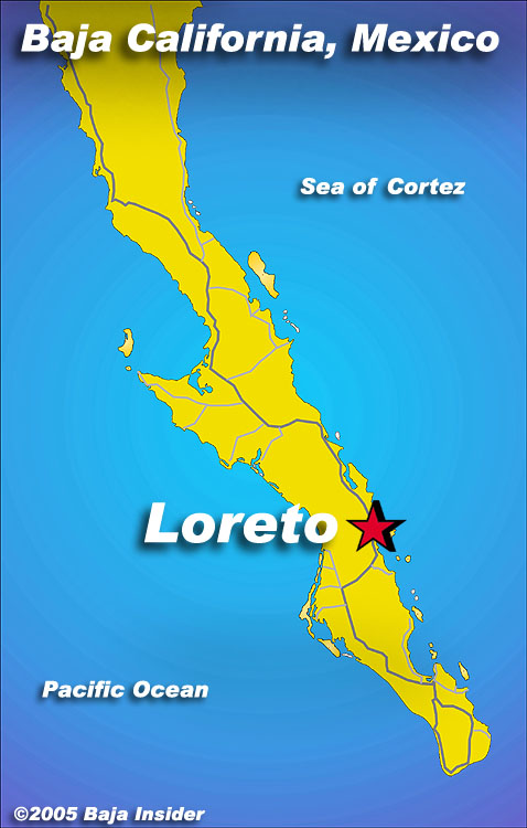 Map Loreto Baja California Loreto Sea And Land Tours