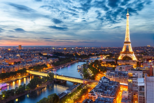 Sunset View of Paris
