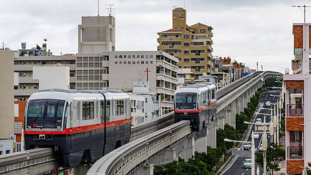 Naha Okinawa Japan Monorail