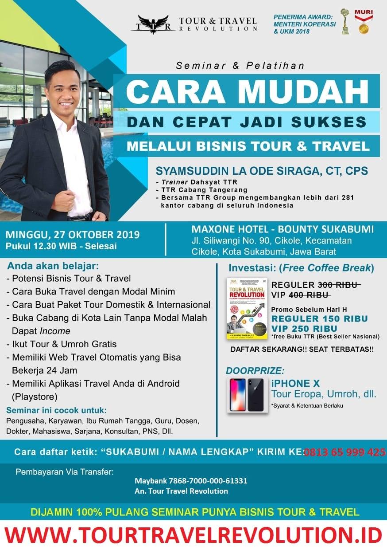 Seminar Tour Travel Revolution Sukabumi