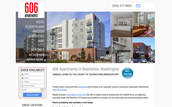606 Apartments website