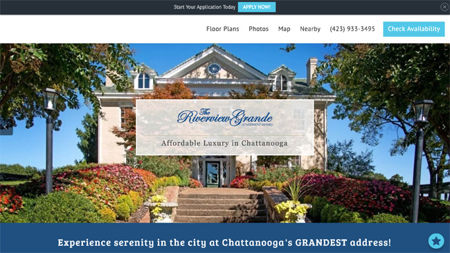 Riverview Grande Apartments website