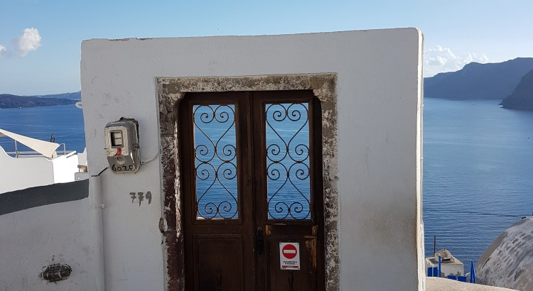 Door to nowhere, Oia Santorini