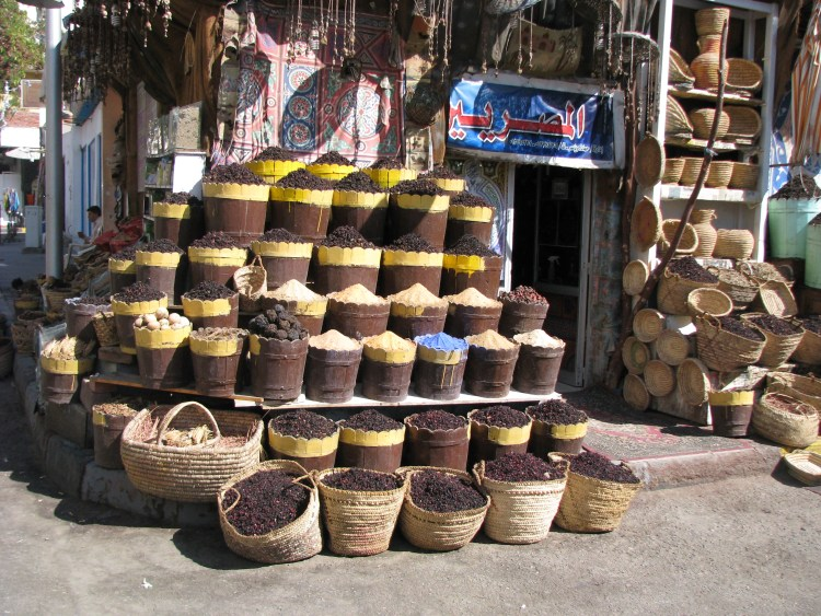 Traditional Spice Shops in Old Town, Hurghada Egypt