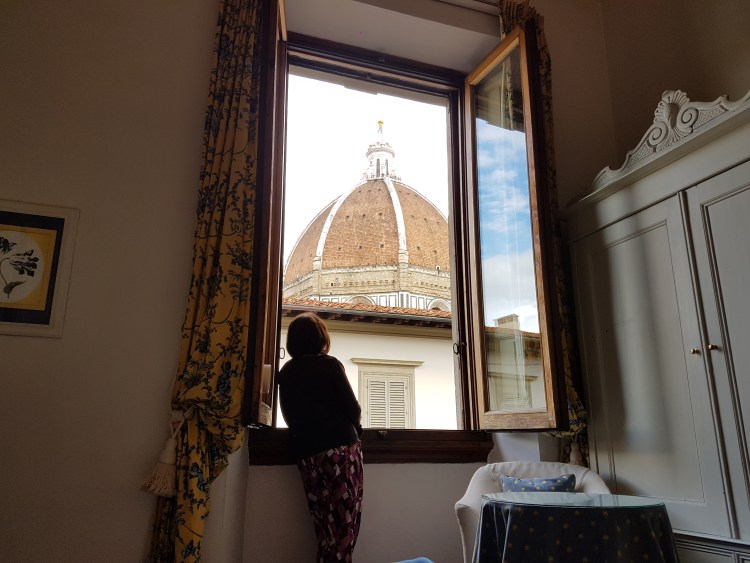 View of the Duomo from our room - Palazzo Ruspoli Florence