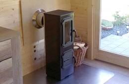 Poêle à bois – Installation dans un abri bois