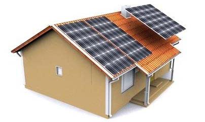 Chalet panneaux solaires