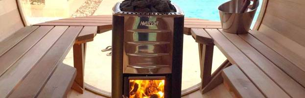 Poêle bois pour sauna, mise en oeuvre
