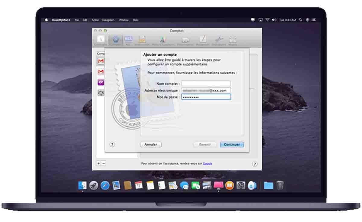 configurer Hotmail sur un Mac