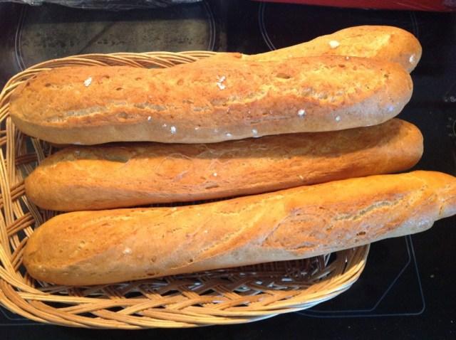 baguettes qui croustillent 2 après cuisson