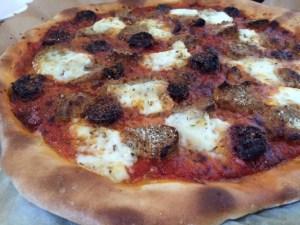 Pizz'anne ( la pizza avec les restes de boulettes à la tomate)
