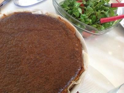 tarte au roquefort et au jambon fumé
