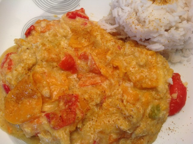 Poulet aux poivrons et au curry