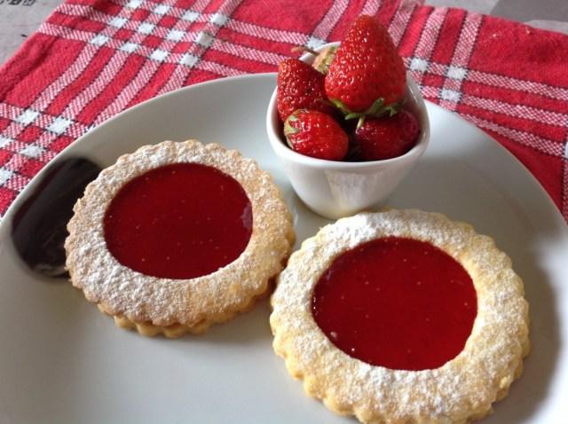 sablés à la fraise