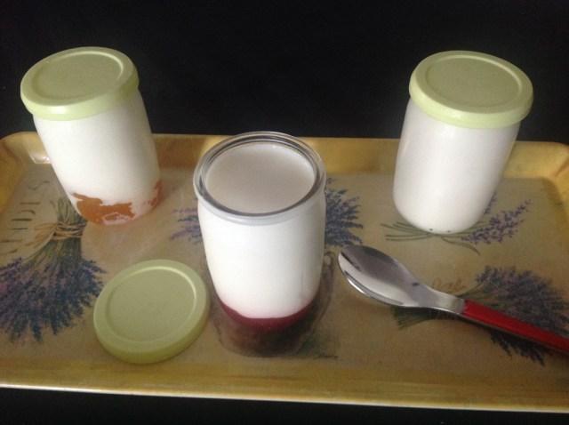 yaourts à la confiture