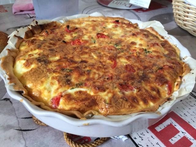 tarte provençale à la mozarella
