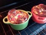 Clafoutis au fromage et aux tomates-cerises