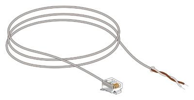 Cordon RJ11 / fils étamés : DTI vers ADSL Box, téléphone