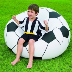 Inflatable Soccer Ball Chair Adams Adirondack Fauteuil Chaise Gonflable, En Forme De Ballon Football