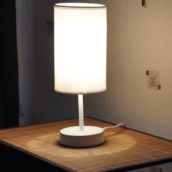 Lampe de chevet tactile touch  29 cm  disponible en blanc et en noir