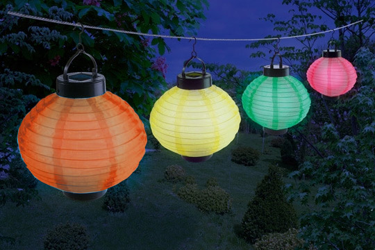 Lanterne solaire lampion  LED  boule chinoise