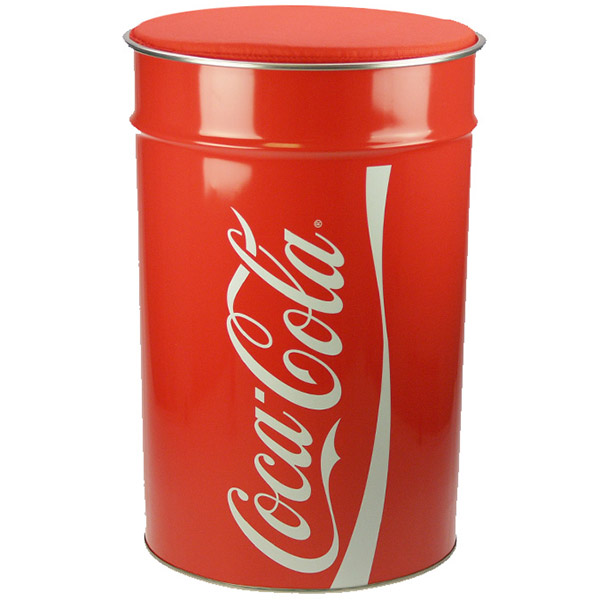 Tabouret coffre poubelle coca cola 3 en 1