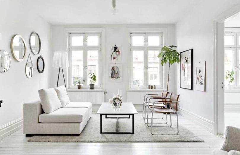 salon gris et blanc idees deco pour