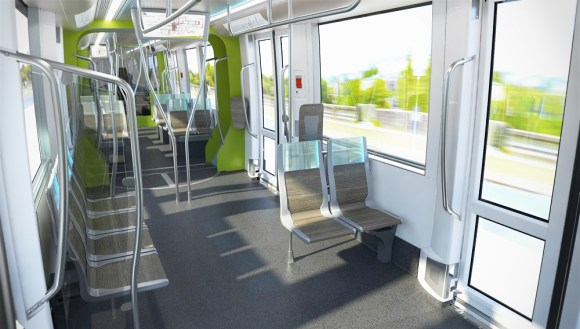 L'intérieur du tram / Source : Luxtram