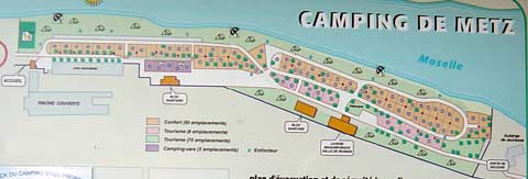 camping de metz plan