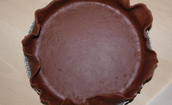 Une recette de pâte sablée au chocolat.