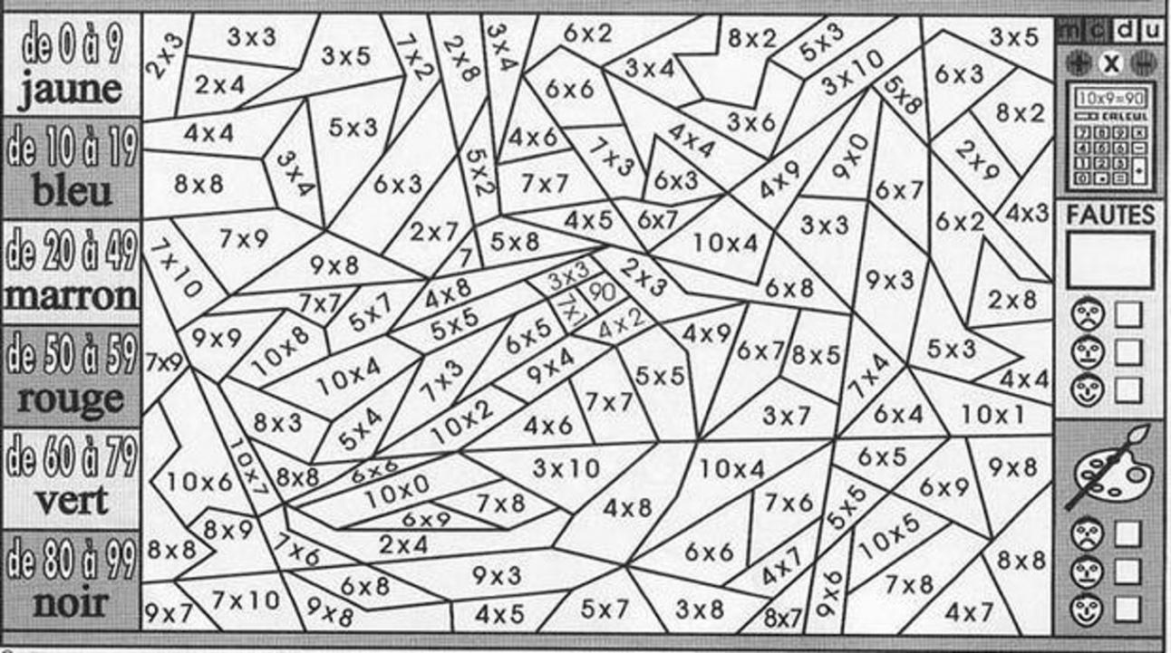 Coloriage Multiplication 14Eme - 14 Prestigieux Coloriage Magique