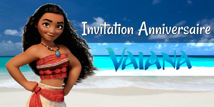 invitation anniversaire vaiana ou moana