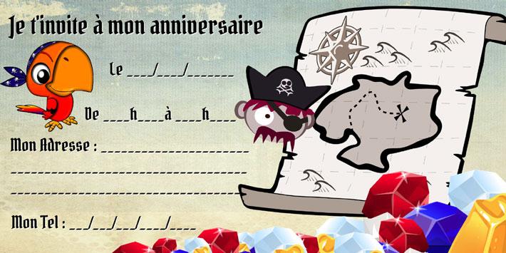carte invitation anniversaire chasse
