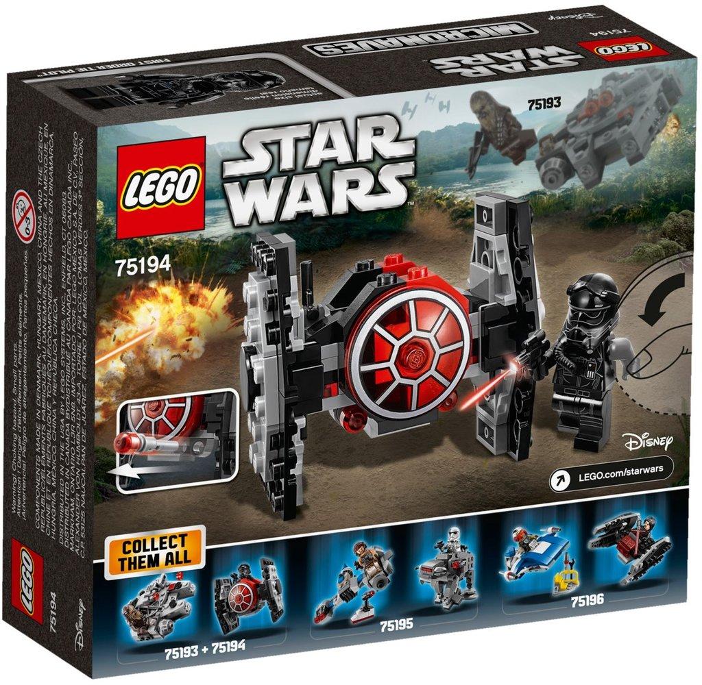 Lego Star Wars 75194 pas cher. Microfighter Chasseur TIE du Premier Ordre