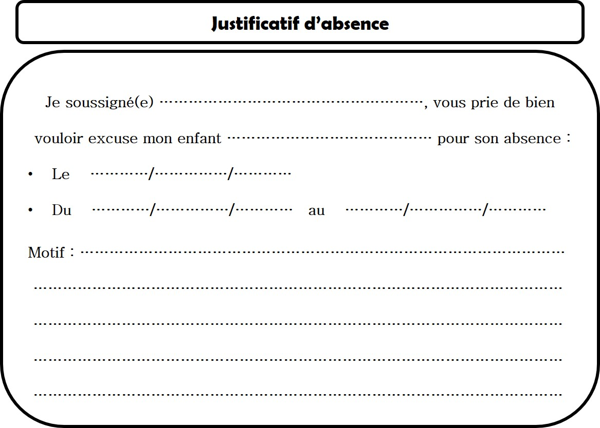 Doc Justification D Absence Lycee