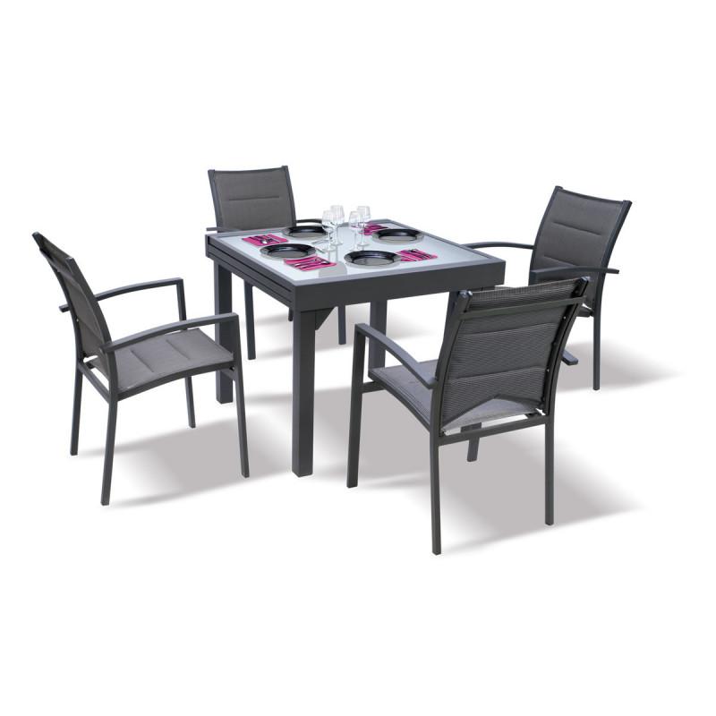 ensemble modulo 4 gris ensemble table