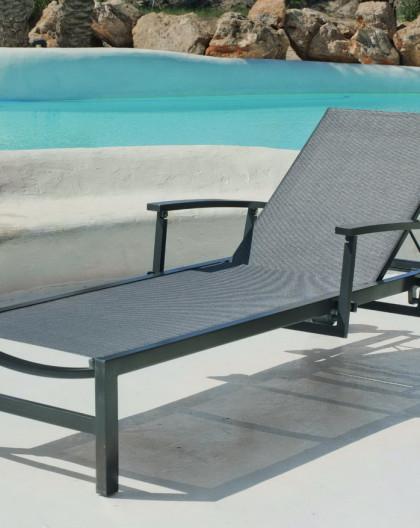 achat vente bain de soleil albina bain de soleil aluminium hevea mobilier de jardin