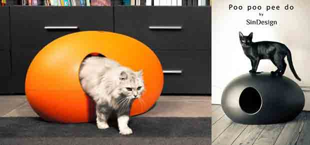 litiere pour chat design poopoopeedo