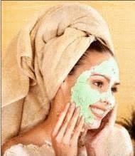 visage avec masque d argile