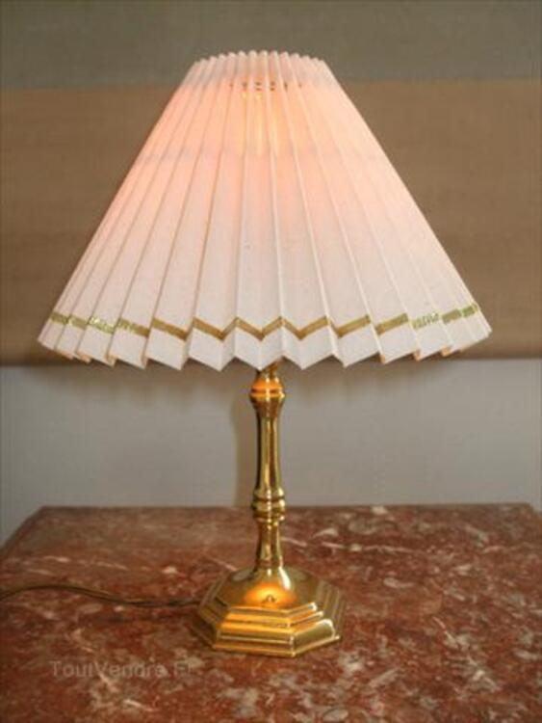 lampe chevet art deco ancienne bronze