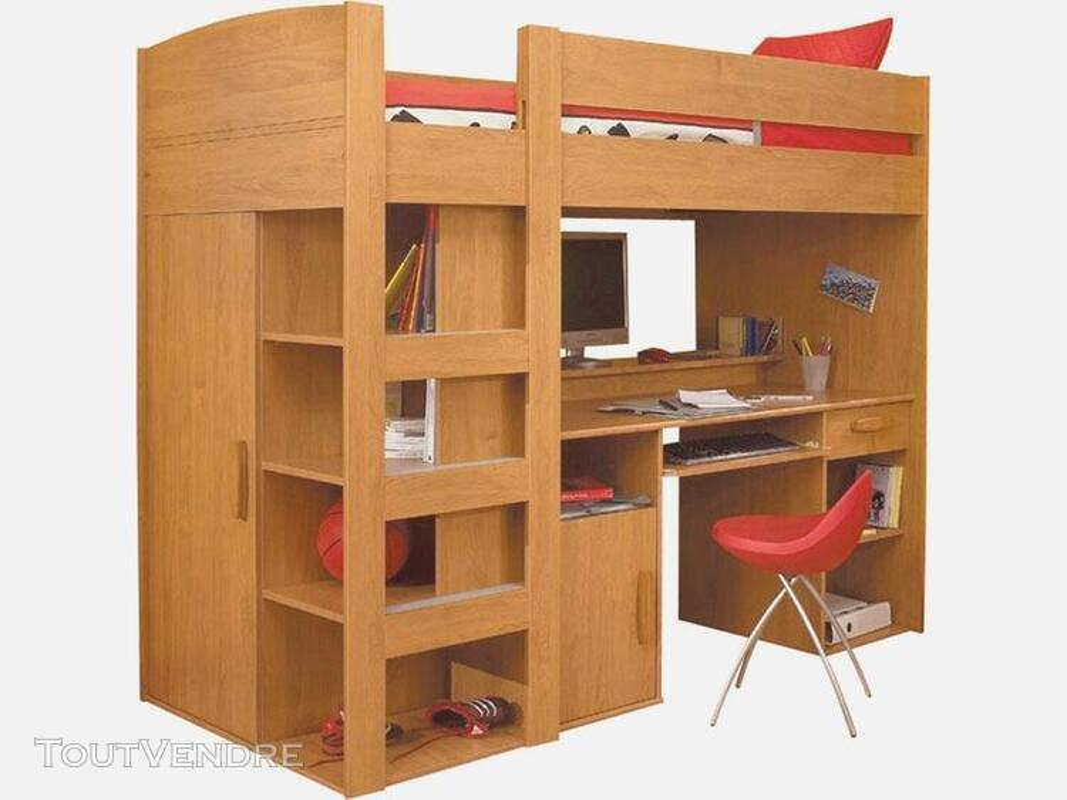 lit mezzanine enfant combine bureau