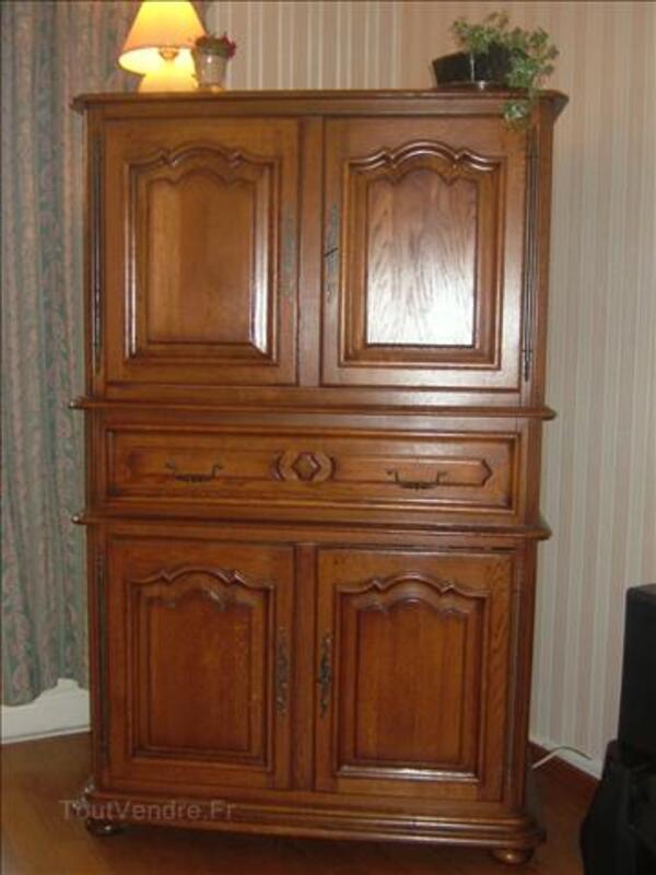 magnifique meuble tv hifi chene massif