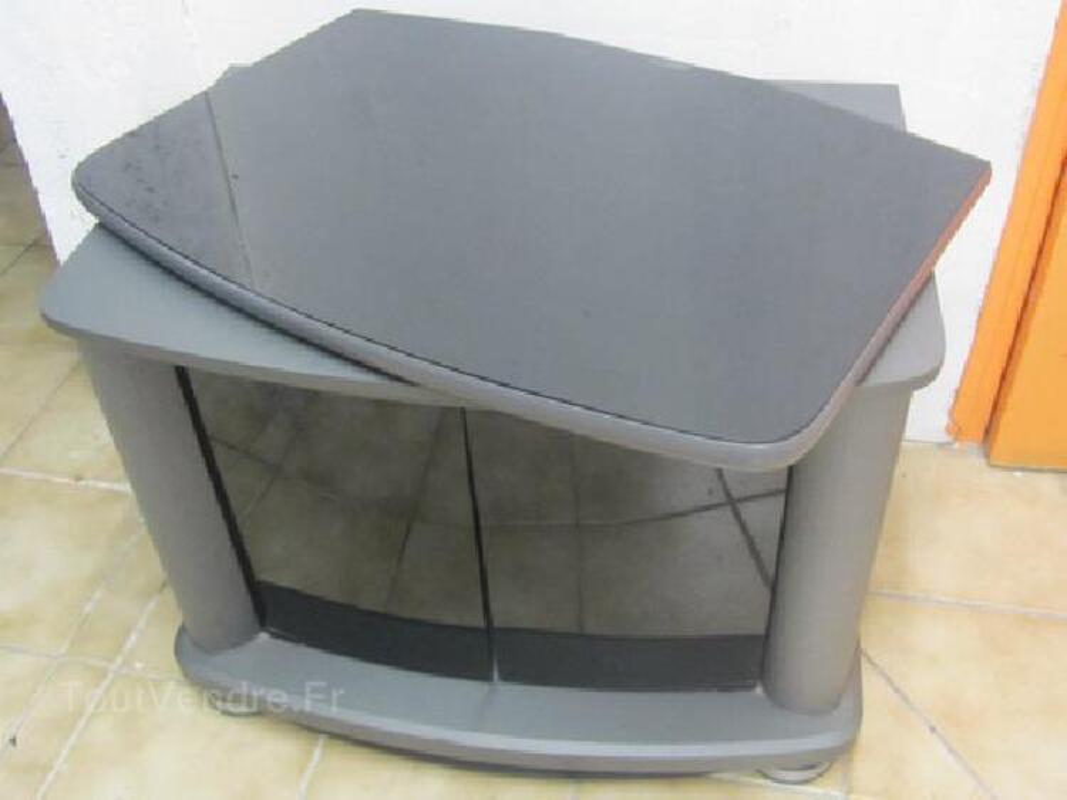meuble tv hifi avec plateau tournant